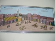 tableau scene de genre place souk animations : place du souk