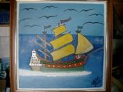 tableau marine bateau d epoque 3 mats : bateau 3 mâts