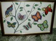tableau autres panoplie papillons multicolor : papillons