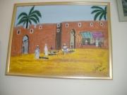 tableau paysages muraille rempart portail medina : rempart médina