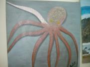 tableau marine poulpe pieuvre fonds marins : pieuvre