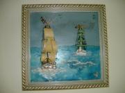 tableau marine navires pirates : navires pirates