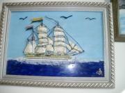 tableau marine bateau 2 mats marchand : bateau marchand