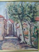 tableau paysages st julia en capou haute garonne village 31540 ruelle : SAINT JULIA EN CAPOU
