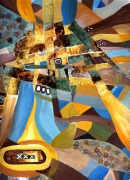 tableau abstrait tissage abstrait lumiere : tissage
