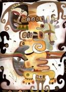 tableau personnages totem visages tetes : ToTem 2
