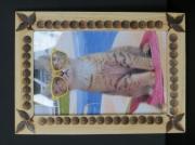 bois marqueterie autres cadre photo pyrograve bois : cadres photo bois pyrograve