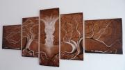 bois marqueterie abstrait arbres amoureux costi rodi : pyrogravure