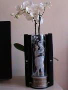 ceramique verre personnages jeunes mariage constantin meaux : gravure sur verre