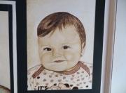 tableau personnages mara enfant belle fromoasa : portrait-pyrogravure