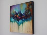 tableau abstrait : Corail - 320€