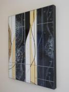 tableau abstrait : Noir et blanc- 350€