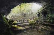 tableau paysages ruines temples exploration alexis le borgne voyage asie : Le début d'un voyage