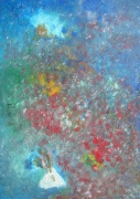 tableau abstrait : Jardin d'Eden