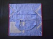 art textile mode fleurs cuisine sac ,a tarte noel cadeau : Sac a tarte