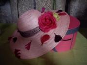art textile mode fleurs chapeau : Amandine