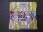 art textile mode fleurs cuisine noel sac ,a tarte cadeau : La prairie