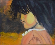 tableau personnages enfant manga chinoise portrait : Petite chinoise