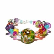 bijoux autres verre amethyste pierres fruit : Bracelet Douceur fuitées