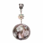 bijoux fleurs verre fleur pendentif printemps : Pendentif Bouquets de douces fleurs
