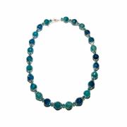 bijoux autres agate bleue faricheur mer luminosite : Collier L'esprit de la mer
