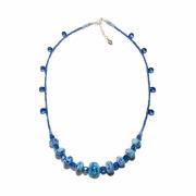 bijoux autres collier perles de verre bleu ciel ocean : Collier Océan d'azur