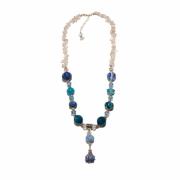 bijoux autres mer verre cristal de roche pierre : Collier Fraicheur marine