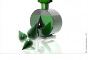 art numerique flacon verre parfums gouttes : LA FUITE EN AVANT