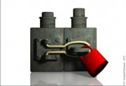 art numerique abstrait cadenas serrure chaine : CADENAS DRY