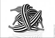 art numerique nature morte bananane raies ray ban zebre : RAY BANANAS