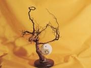 deco design abstrait feuille d or yin yang racine de chene deco bois : racine chêne façon bonsaï