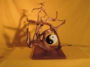 deco design autres yin yang carillon chinois decoration bois creation bois : LE YIN YANG