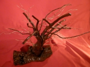 deco design autres decoration bois feuille d or creation artisanale racine de chÊne : Racine cuivre et or