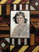 ceramique verre personnages indien peinture sur verre vitraux verre : Bac lumineux indien
