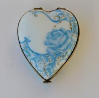 Boite coeur Rose bleue