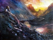 tableau paysages heroic fantasy : the path
