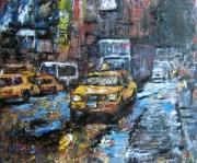 tableau villes taxi ville new york urbain : Manhattan Traffic