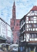 tableau villes strasbourg ville alsace : Strasbourg