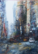 tableau villes ville new york urbain voiture : The Big City