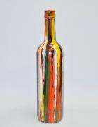 artisanat dart abstrait bouteille decoration verre artisanat : Pluie couleur