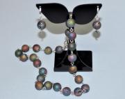 """bijoux abstrait collier tour de cou boucle d oreill bijoux : Collier et boucle d'oreille """"Meteors"""""""