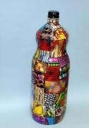 artisanat dart abstrait verre bouteille decore artisanat bouteilles : mémoires