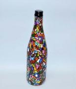 artisanat dart abstrait bouteilles bouteille decore artisanat verre : Labyrinthe