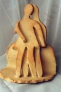 sculpture personnages sculpture couple ceramique decoration : Couple en amour