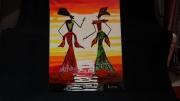 tableau personnages femmes pharaonnes rappelant l egypte : Les pharaonnes