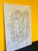 tableau personnages personnages abstrait couple : Adam et Eve