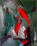 tableau abstrait abstraction composition reve gestuel : composition n° 10