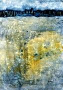 tableau foret bleu arbres paysage : Forêt bleue