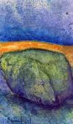 tableau paysages pierre bleu : Caillou vert