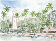 tableau marine phare tahiti polynesie plage : plage du phare